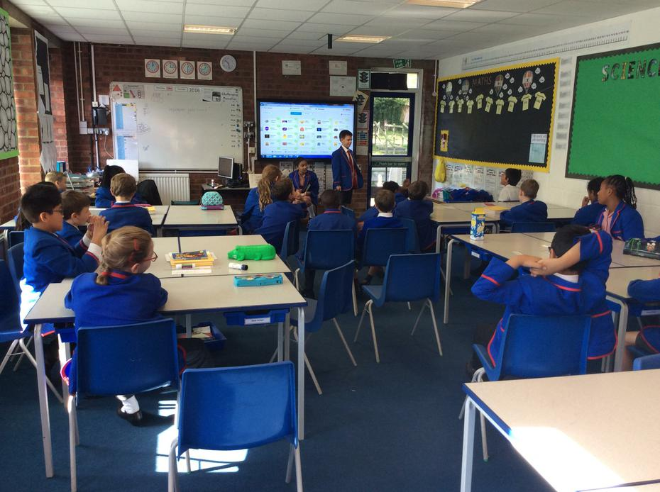 Class council meeting held by Miah and Callum.