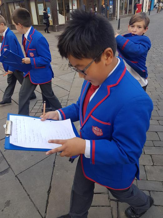 Miaz finding evidence of religion in Wycombe!