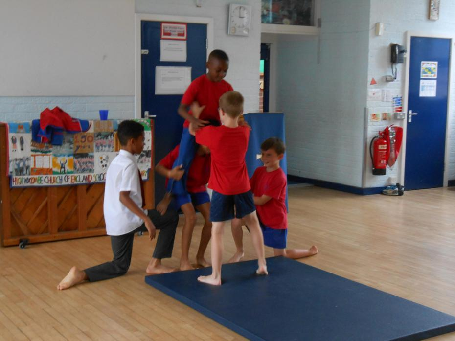 In dance we worked on levels; low, medium and high