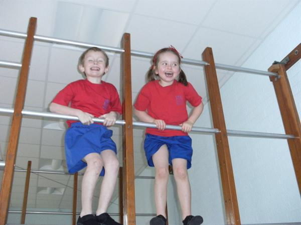 The wall bars are our favourite apparatus!