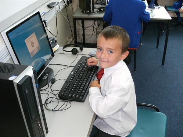Logging on in the ICT suite!