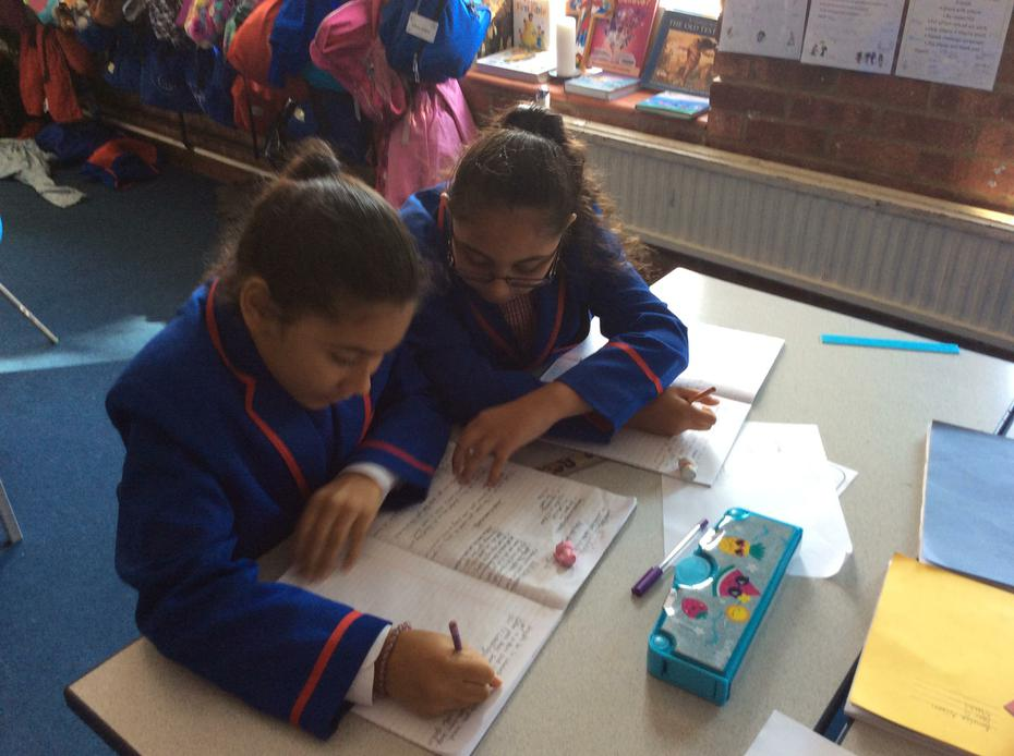 Busy making their board games!