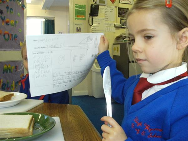 We had to read our instructions carefully!