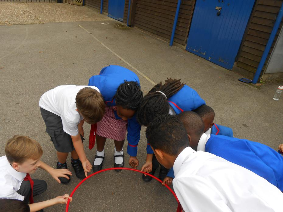 Everyone loved doing trust activities during PSHE!