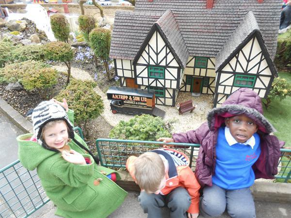Our first trip to the model village!