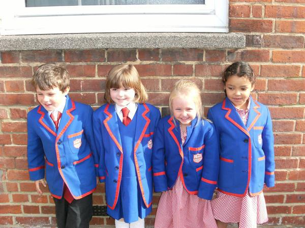 Look how smart we are in our new blazers!