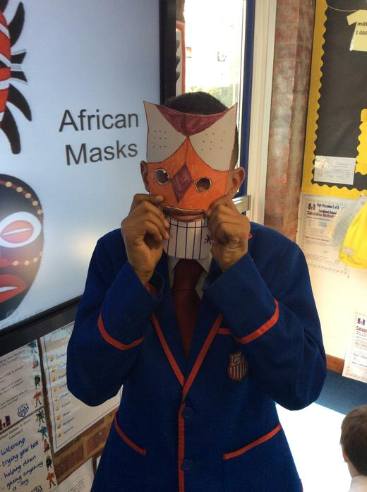 Benjamin and his mask