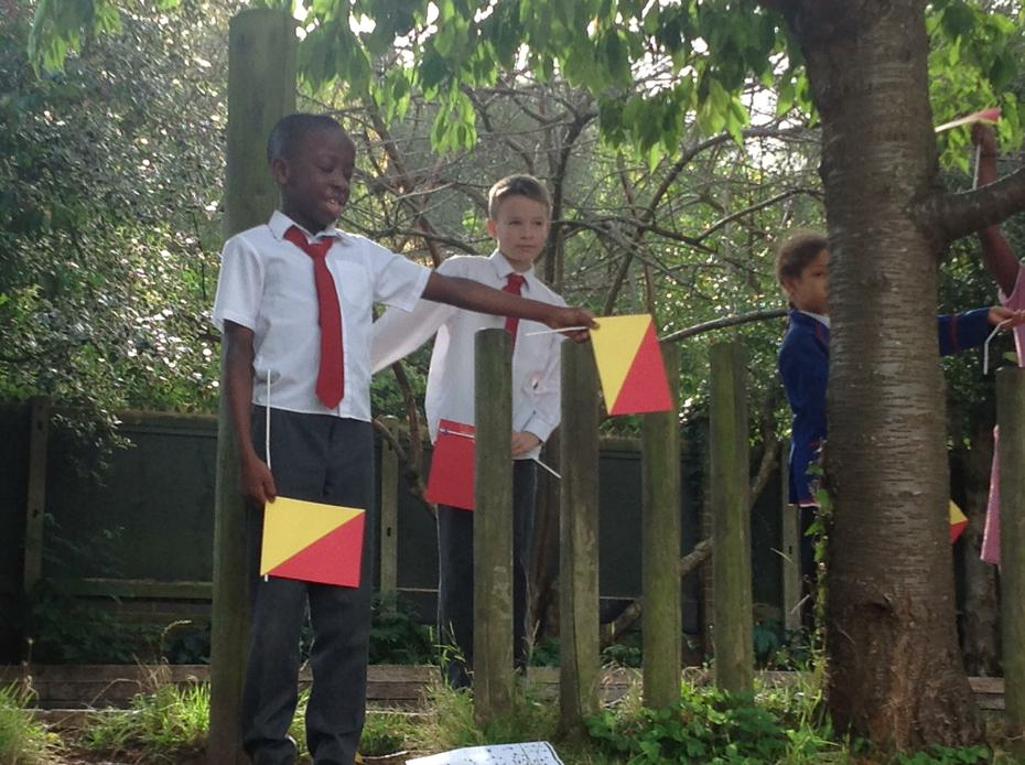 ICT - Semaphore. Ask your child what this is!