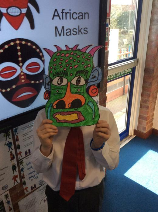 Aidan and his mask