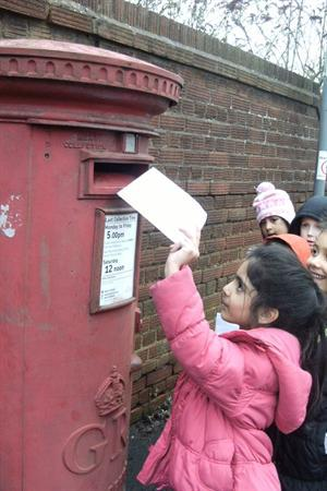 We wrote our own letters and posted them.