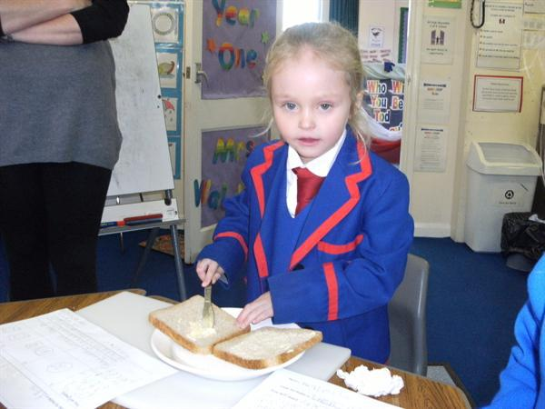 Mrs Waldron had sandwiches made for her too!