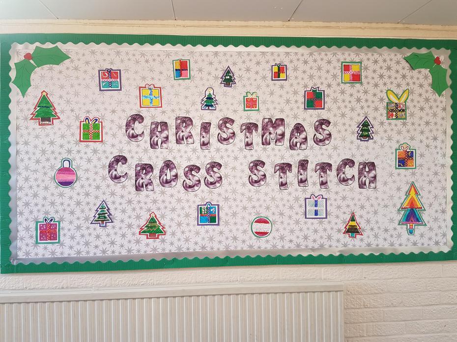 Christmas cross stitch display!