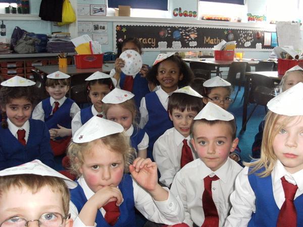 Today we made Jewish Kippah hats