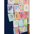 Here are all the children's art work