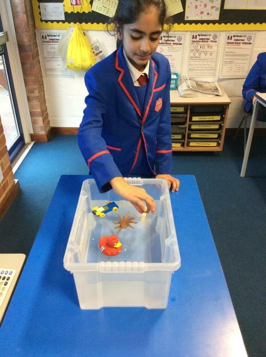 Floating and sinking experiment!
