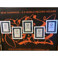 Wow! Five World Record Certificates.