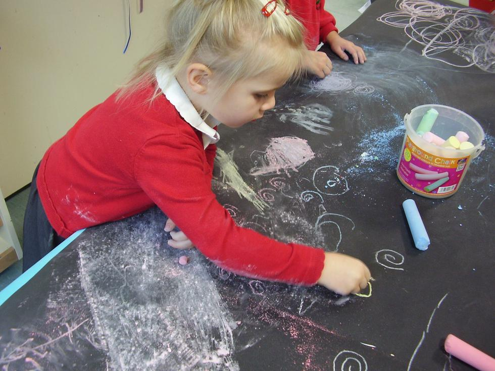 ... and more chalk drawings