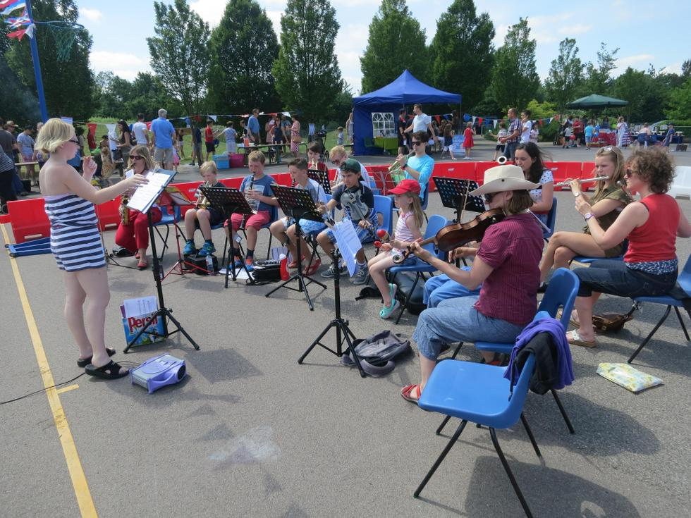 Hillmead Orchestra at Summer Fete 2015