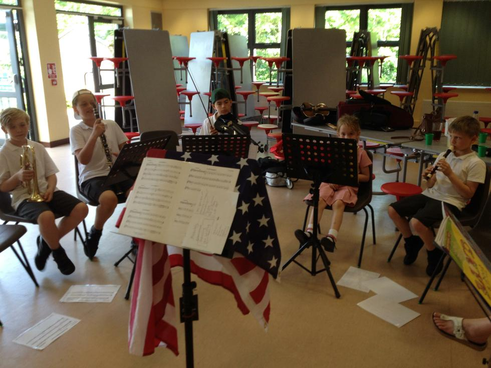 Hillmead Orchestra at practice