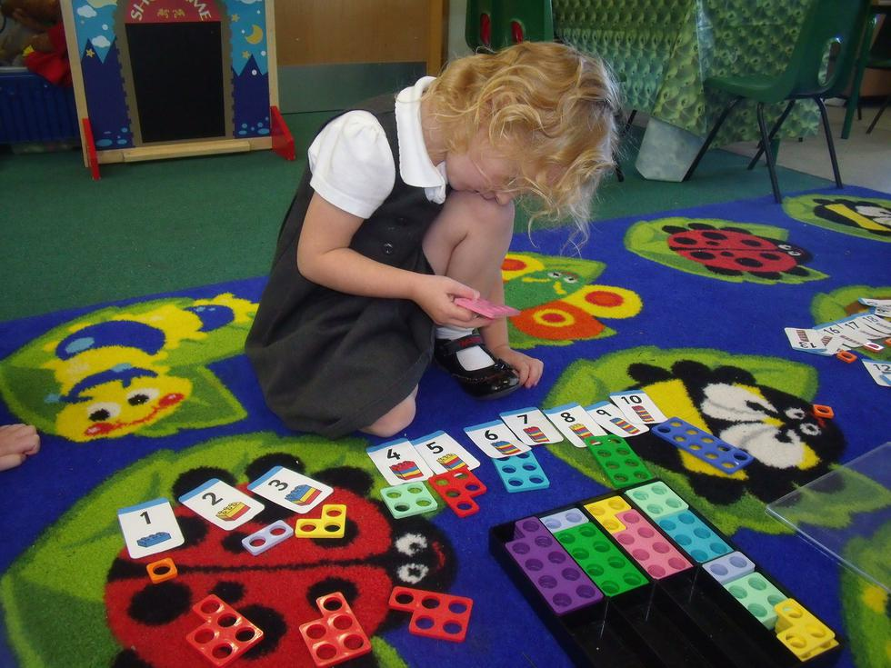 Using Numicon for sequencing numbers