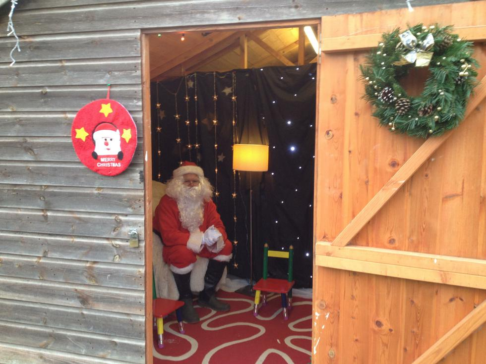 Santa in his Grotto at our Christmas Fayre 2015
