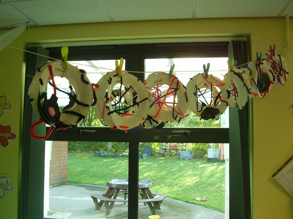 We made webs for Incey Wincey Spider