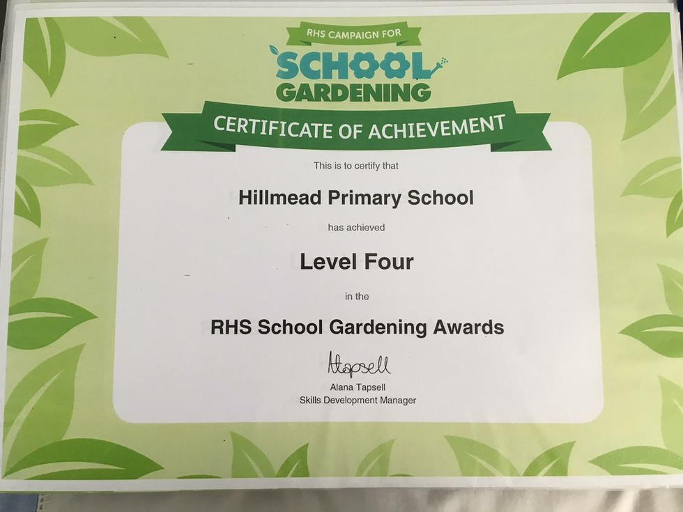 Proud of our RHS Schools Level 4 Award
