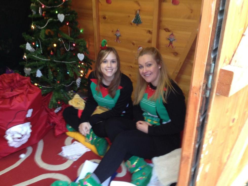 Santa's elves at our Christmas Fayre 2015
