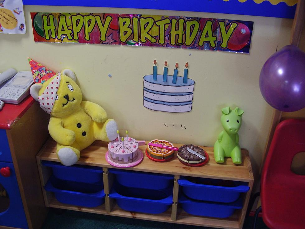 We celebrated Pudsey's birthday.