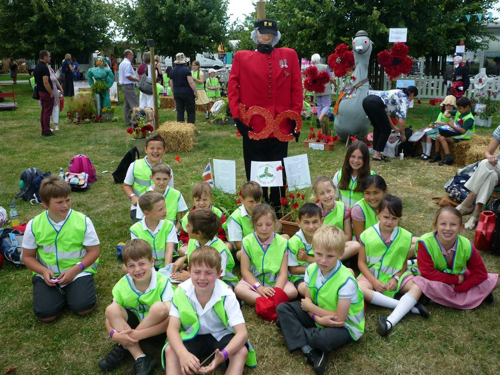 """With Scarecrow """"Wilfred"""" at Hampton Court"""