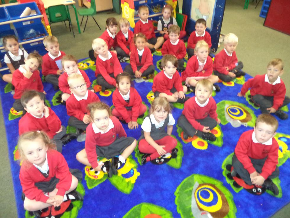 Learning to sit quietly on our learning leaves
