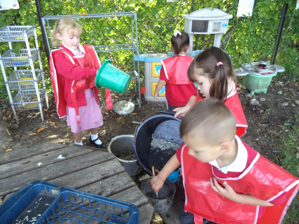 ...then turning it to mud soup in our kitchen