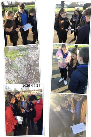 Map reading and using a compass in Y6
