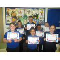 Our KS2 winners.