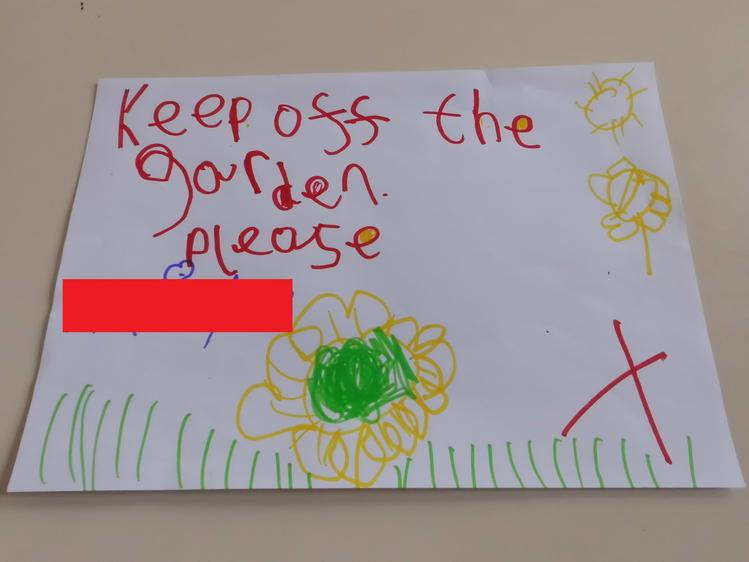 We even made signs to encourage others to stay off our plants.