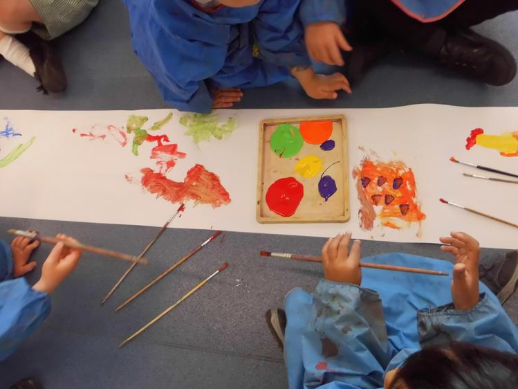 We painted mindfully