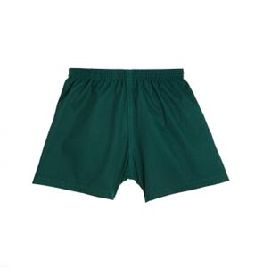 green or black shorts