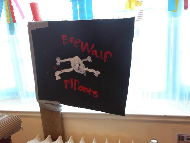 Our special flag lets everyone know that it is a pirate ship.