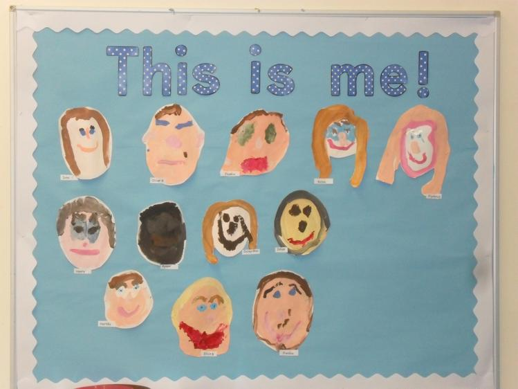 We painted our self portraits.