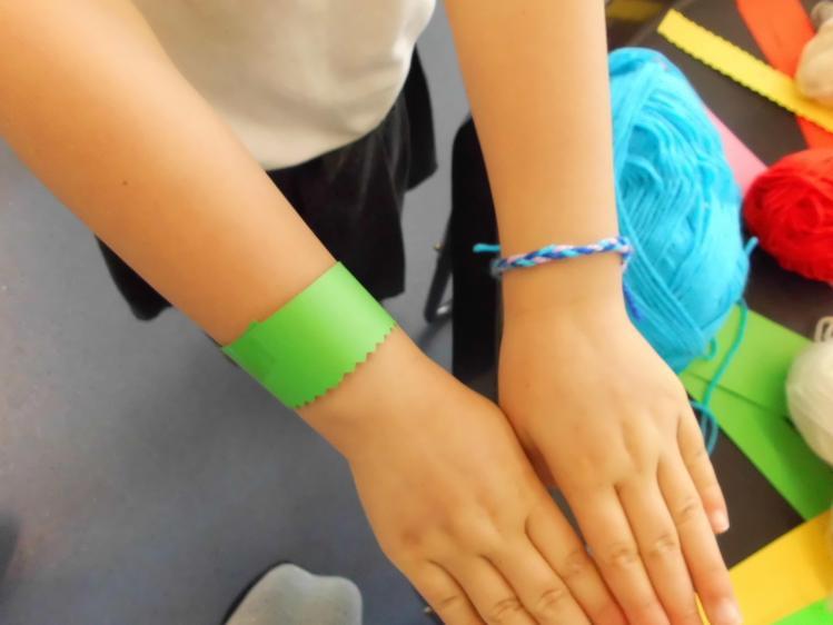 bracelets for each other.