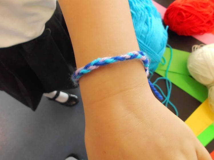 We made friendship bracelets for each other.