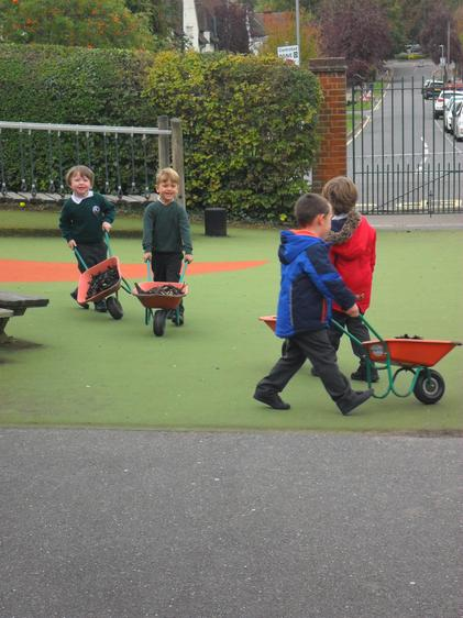 We went round and round in a circle.