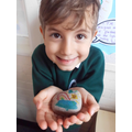 We decorated friendship rocks with kind messages.