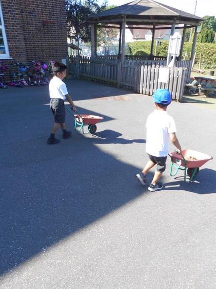 It was quite a long way to push the wheelbarrow.