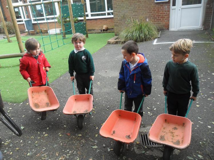 First we got our wheelbarrows