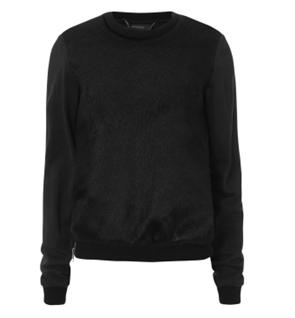 a plain, dark jumper