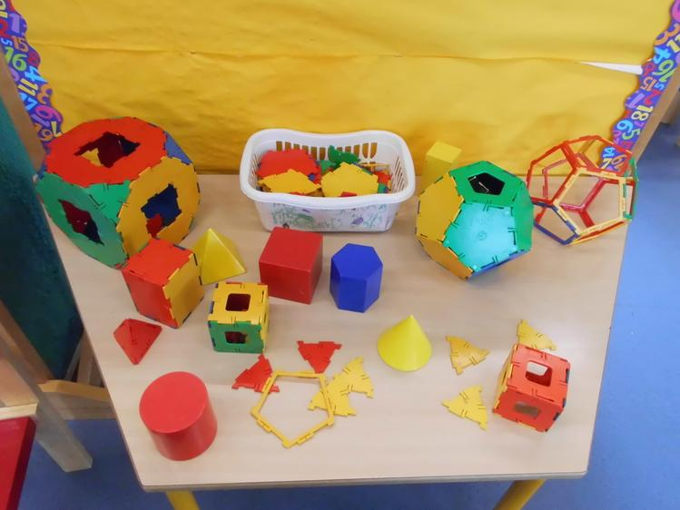 We have been making 3d shapes with the construction.