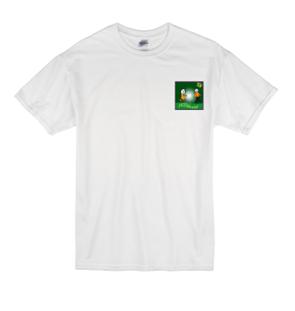 a Hillshott P.E. t-shirt