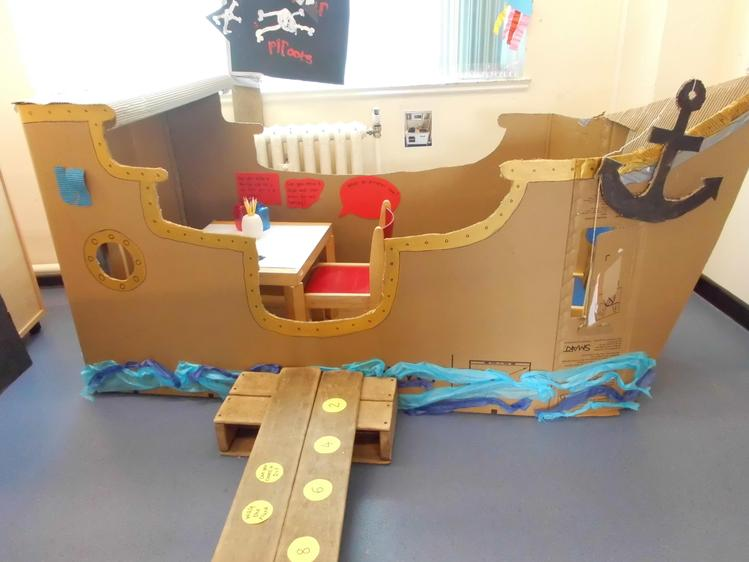 We helped to make a pirate ship,
