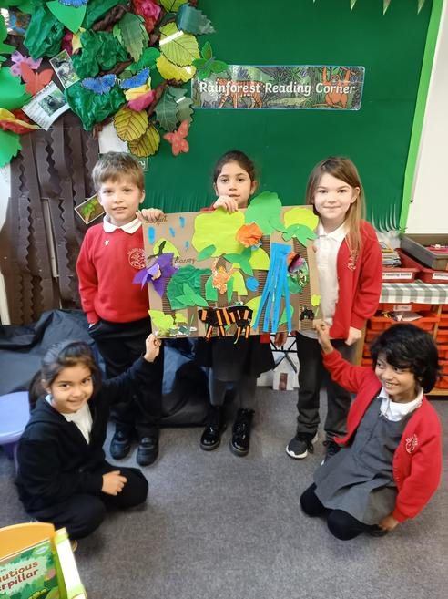 Our KS1 group have been learning about the Rain Forest.